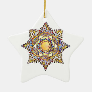 Pop Art Christmas Star Christmas Ornament
