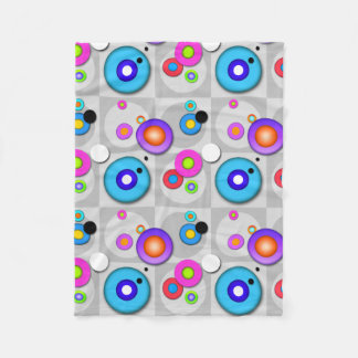 POP ART CIRCLES FLEECE BLANKET