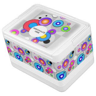 POP ART CIRCLES IGLOO COOL BOX