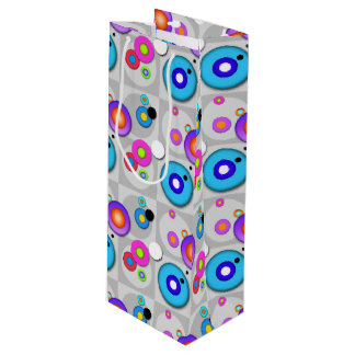 POP ART CIRCLES WINE GIFT BAG