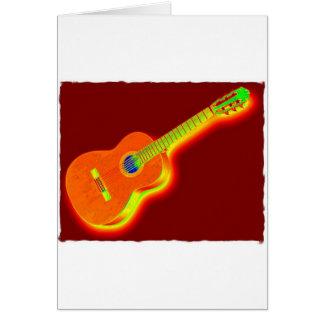 Pop Art Classical Guitar Greeting Card