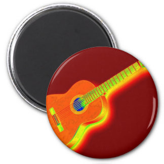 Pop Art Classical Guitar Magnets