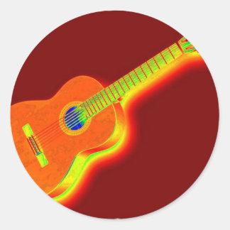 Pop Art Classical Guitar Stickers