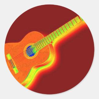 Pop Art Classical Guitar Sticker