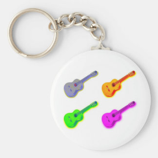 Pop Art Classical Spanish Guitar Key Chains