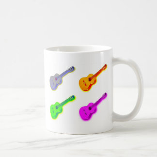 Pop Art Classical Spanish Guitar Coffee Mugs