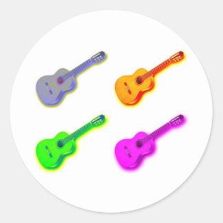 Pop Art Classical Spanish Guitar Stickers