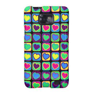 Pop art colorful hearts Samsung Galaxy Case