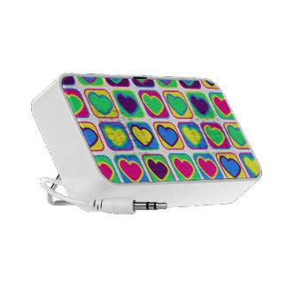Pop art colorful hearts speaker