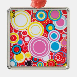 Pop Art Colour Circles Christmas Ornament