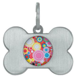 Pop Art Colour Circles Pet Tag