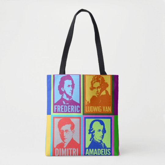 Pop Art Colourful Composers Tote Bag