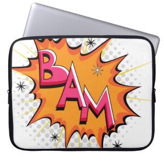 Pop Art Comic Bam Computer Sleeve