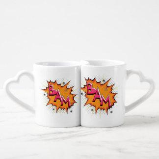 Pop Art Comic Bam! Lovers Mug Sets