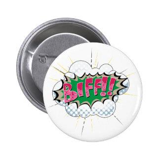 Pop Art Comic Biff! 6 Cm Round Badge