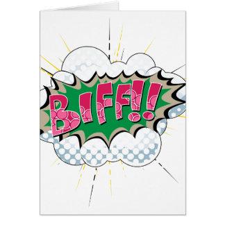 Pop Art Comic Biff Greeting Card