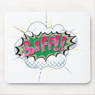 Pop Art Comic Biff Mouse Pad