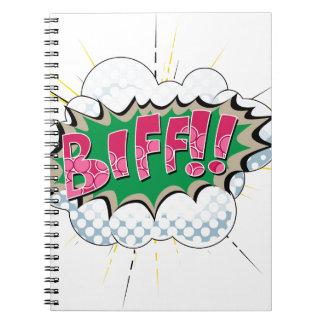 Pop Art Comic Biff Spiral Note Book