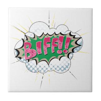 Pop Art Comic Biff Tiles