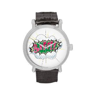 Pop Art Comic Biff Wristwatch