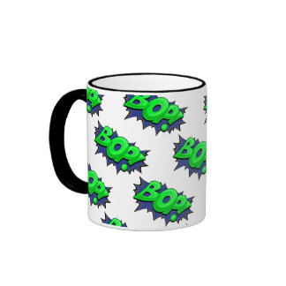 Pop Art Comic Bop! Ringer Mug