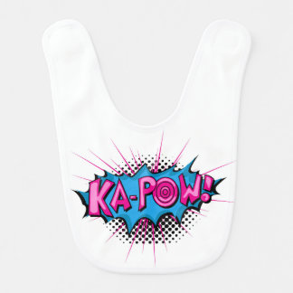 Pop Art Comic Ka-Pow! Baby Bibs