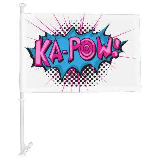 Pop Art Comic Ka-Pow! Car Flag