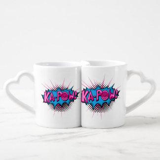 Pop Art Comic Ka-Pow! Lovers Mug Sets
