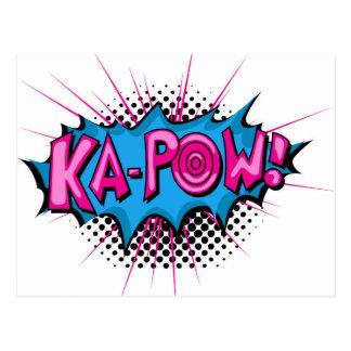 Pop Art Comic Ka-Pow Post Cards