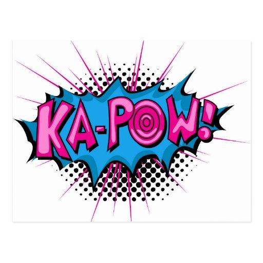 Pop Art Comic Ka-Pow! Post Cards