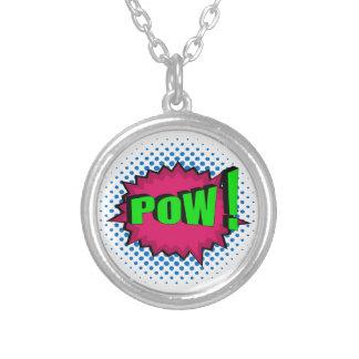 Pop Art Comic Pow! Personalized Necklace