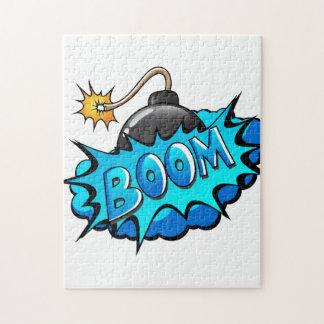 Pop Art Comic Style Bomb Boom! Jigsaw Puzzle