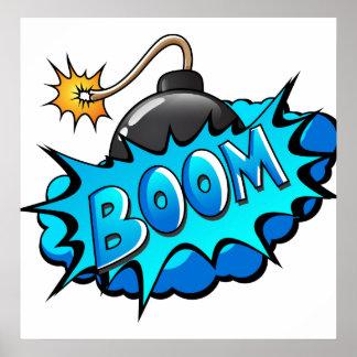 Pop Art Comic Style Bomb Boom! Poster