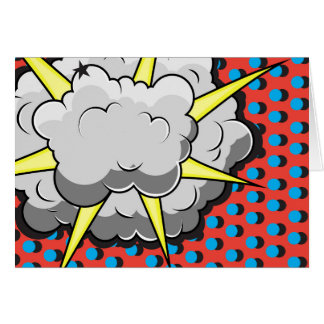 Pop Art Comic Style Explosion Card