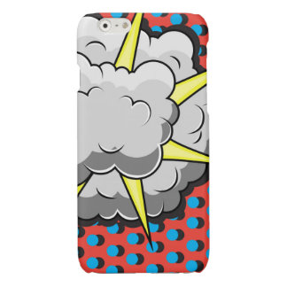 Pop Art Comic Style Explosion Glossy iPhone 6 Case