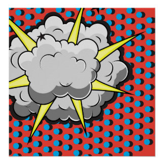 Pop Art Comic Style Explosion Print
