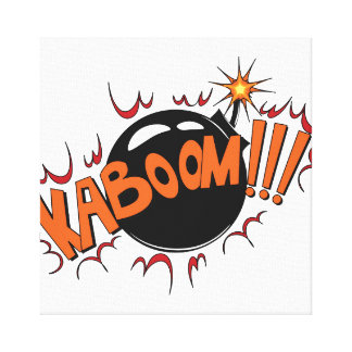 Pop Art Comic Style KaBoom! Stretched Canvas Print
