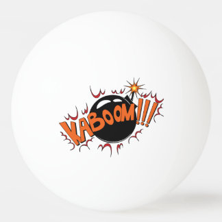 Pop Art Comic Style KaBoom! Ping Pong Ball