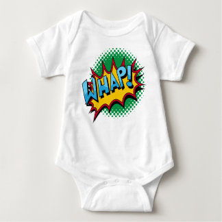 Pop Art Comic Style Whap! Baby Bodysuit