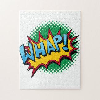 Pop Art Comic Style Whap! Jigsaw Puzzle
