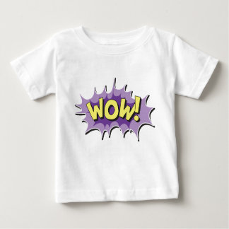 Pop Art Comic Style Wow Baby T-Shirt