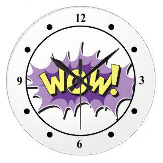 Pop Art Comic Style Wow Large Clock