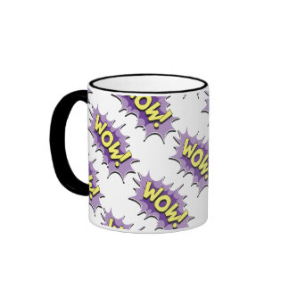 Pop Art Comic Style Wow Mug
