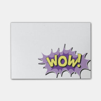 Pop Art Comic Style Wow Post-it® Notes