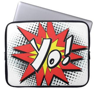 Pop Art Comic Yo! Laptop Sleeves