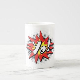 Pop Art Comic Yo Bone China Mug