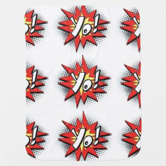 Pop Art Comic Yo Baby Blankets
