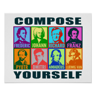 Pop Art Composers | Compose Yourself Poster