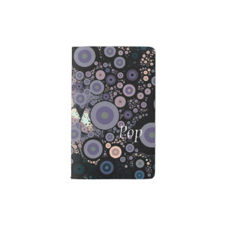 Pop Art Concentric Circles Floral Lavender Pocket Moleskine Notebook