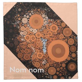 Pop Art Concentric Circles Floral Orange Napkins